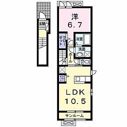 ブリーズSS03[2階]の間取り