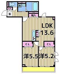 (仮)D-room千住川原町[4階]の間取り