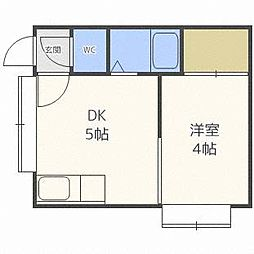 北海道札幌市東区北二十三条東3丁目の賃貸アパートの間取り