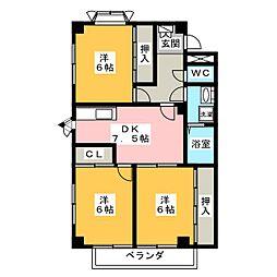 レヴンワースC[2階]の間取り