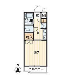 アルファ西古松[2階]の間取り