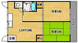 兵庫県神戸市長田区長田天神町1丁目の賃貸アパートの間取り