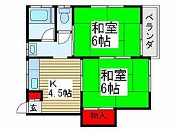 ハイムウチノ[1階]の間取り