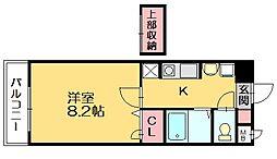 ジュネスパラシオン豊原[8階]の間取り