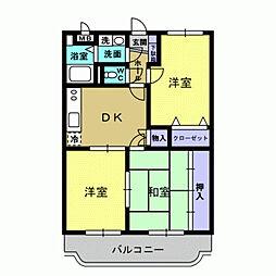 JR日豊本線 国分駅 徒歩31分の賃貸マンション 1階3DKの間取り