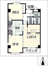 レヂデンスTOUWA[1階]の間取り