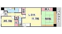 サンヴェール神戸[3階]の間取り
