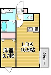 Kimie PRENDORE.R 4階1LDKの間取り