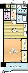 福岡県北九州市小倉北区東篠崎3丁目の賃貸マンションの間取り