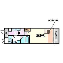 バルゴ ツヴァイ[1階]の間取り
