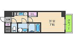 エスリード大阪梅田WEST 7階1Kの間取り