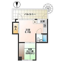 アイダアパート[211号室]の間取り