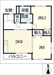 クワトロ[2階]の間取り