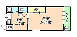 垂水ハイツ[1階]の間取り