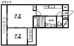 新潟県新潟市東区空港西1丁目の賃貸マンションの間取り