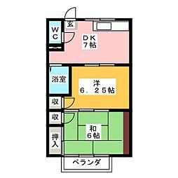 メゾンラック[2階]の間取り