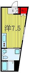 東京メトロ南北線 東大前駅 徒歩2分の賃貸アパート 1階ワンルームの間取り