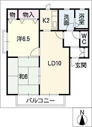 ローズ ガーデン[2階]の間取り