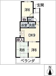 マリンハイツ藤[1階]の間取り