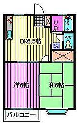 メゾンマキ2[2階]の間取り