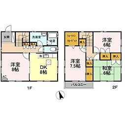 [一戸建] 愛知県名古屋市名東区大針二丁目 の賃貸【/】の間取り