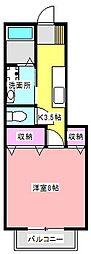 ラ・メゾン・ルーウII[1階]の間取り