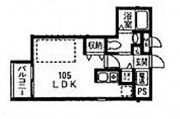 リタ コート[1階]の間取り