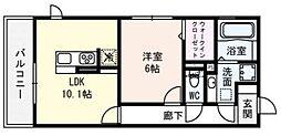 ロイヤル西野山[106号室号室]の間取り