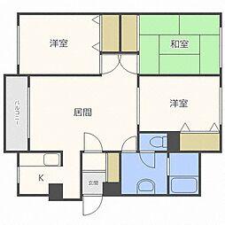 デューベルタックII[2階]の間取り