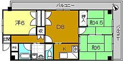 ターミナルマンション朝日プラザ堺[826号室]の間取り