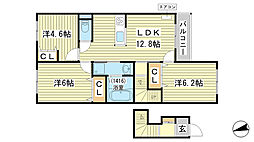 仮称)苫編新築アパート[203号室]の間取り