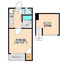 チェリーハウス博多[1階]の間取り