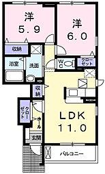 メゾン・ド・リアンX[1階]の間取り