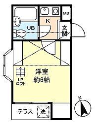 ジュネパレス津田沼第21[2階]の間取り
