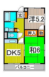 富田マンション[2階]の間取り