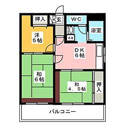 第12岡部ビル[7階]の間取り