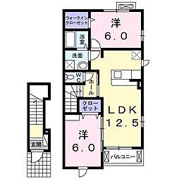 メゾンブリーズVII[2階]の間取り