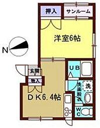 フラワーハイツ18[105号室]の間取り