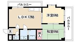 愛知県名古屋市守山区天子田2丁目の賃貸マンションの間取り