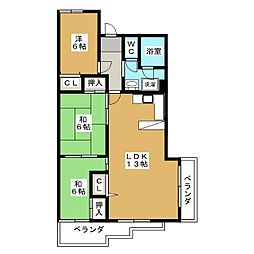 アーバン紫園[3階]の間取り
