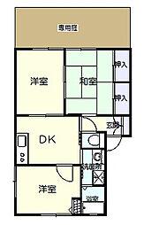 フレグランス桜木A[102号室]の間取り