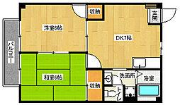 滋賀県大津市穴太1丁目の賃貸アパートの間取り