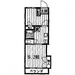 東京都町田市広袴2丁目の賃貸マンションの間取り