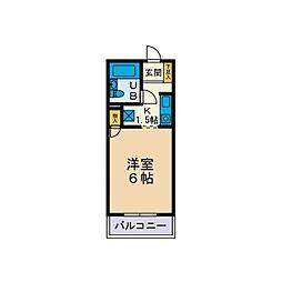 カーサ鶴巻[2階]の間取り
