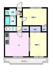 カガリーハイム[2階]の間取り
