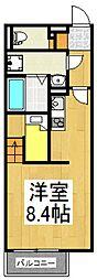 ミランダKEEP NEXTII[1階]の間取り