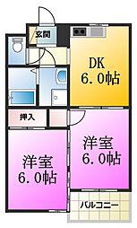 ドムスアライ壱号館[1階]の間取り