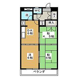第6協和ビル[4階]の間取り