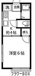 神奈川県相模原市緑区町屋1丁目の賃貸アパートの間取り