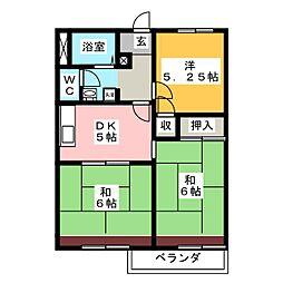 タウニースイートホーム[2階]の間取り